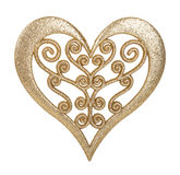 Heart of gold decoration Stock Photography