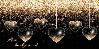 Heart of gold highlights Royalty Free Stock Images