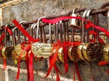 Heart gold. Of keys Stock Photos