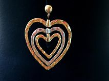 Heart of gold. Multiple heart made of the gold stock video