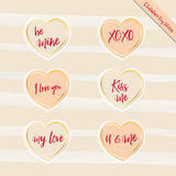 Heart gold stickers Stock Photo