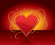 Heart with gold, vector Stock Images
