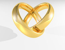 Heart Gold Wedding Rings Royalty Free Stock Photo