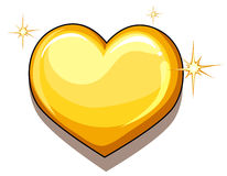 A heart of gold Royalty Free Stock Photos