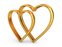 Heart of gold Royalty Free Stock Images