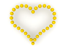 Heart of Golden Balls Stock Image