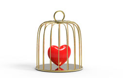 Heart in a golden cage Stock Images