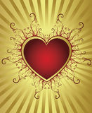 Heart golden frame Royalty Free Stock Photo