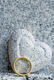 Heart and golden ring Stock Image