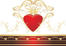 Heart and gothic ornament Stock Photos