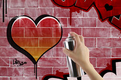 Heart graffiti Stock Image
