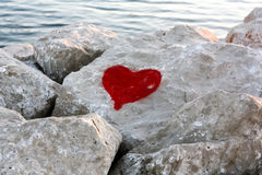 Heart Graffiti Stock Images