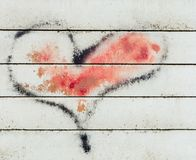 Heart graffiti on wall Royalty Free Stock Photography