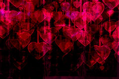 Heart on Grange background Royalty Free Stock Photography