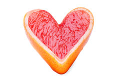 Heart of the grapefruit Royalty Free Stock Photo