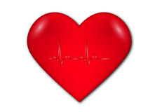 Heart with graph and heart rate Royalty Free Stock Photography