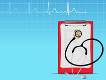 Heart graph medical background Stock Images