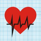 Heart and graph Royalty Free Stock Photo
