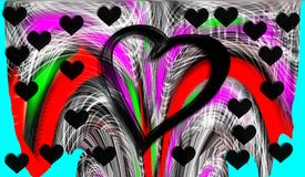 Heart. Graphic arts. Drawing. Colorful. Colors. Graffiti, abstract, wall, pattern, street, paint, architecture, colorful, city, color, grunge, urban, texture Stock Photos