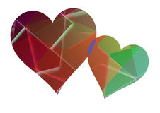 Heart with graphic background. Heart with colorful graphic background with geometric shapes vector illustration