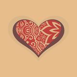 Heart with graphic design decoration Royalty Free Stock Image