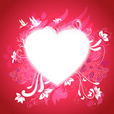 Heart with graphical story about love Royalty Free Stock Photo