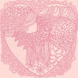 Heart graphics background. Vector graphic illustration design art Stock Images