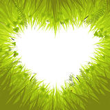 Heart in grass Stock Photos