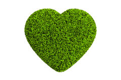 Heart from grass, 3D rendering Stock Photography