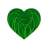 Heart of grass illustration Stock Photos