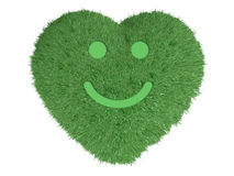 Heart with grass and smile Stock Photography