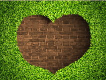 The heart of the grass Stock Photography