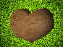 The heart of the grass Stock Photos