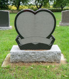 Heart Gravestone. A blank gravestone in the shape of a heart Stock Image