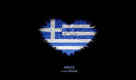 The Heart of Greece Flag. Stock Images