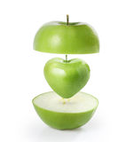 Heart green apple Stock Image
