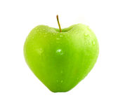 Heart (Green apple) Royalty Free Stock Images