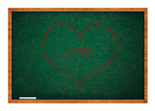 Heart on green chalkboard Royalty Free Stock Photography