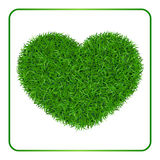 Heart green grass background 1 Royalty Free Stock Photo