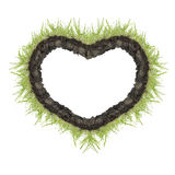 Heart of green grass Stock Photos