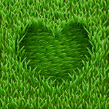 Heart on green grass. Stock Image