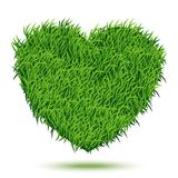 Heart Green Grass. Vector Illustration for your design Royalty Free Stock Images