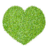 Heart from the green grass Stock Photos