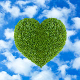 Heart of green leaves Royalty Free Stock Image