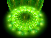 The heart of green mandala Royalty Free Stock Photography