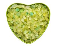 Heart with the green stones Stock Photo