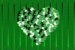 Heart green symbol Royalty Free Stock Image