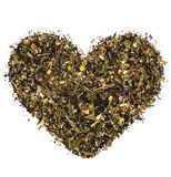 Heart from green tea Stock Photography
