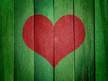 Heart on Green Wood Royalty Free Stock Photo