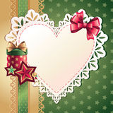 Heart greeting banner Royalty Free Stock Images